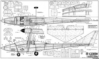 Laker RCM model airplane plan