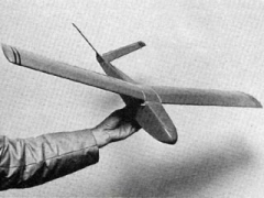 Little V model airplane plan