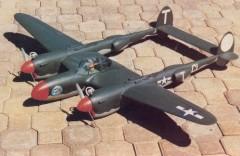 Lockheed P-38 Lightning model airplane plan
