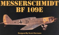 Messerschmitt BF 109E model airplane plan