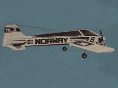 Miss Norway MK II model airplane plan