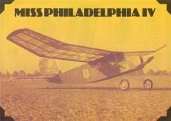 Miss Philadelphia IV model airplane plan