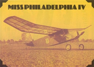 Miss Philadelphia IV model airplane plan