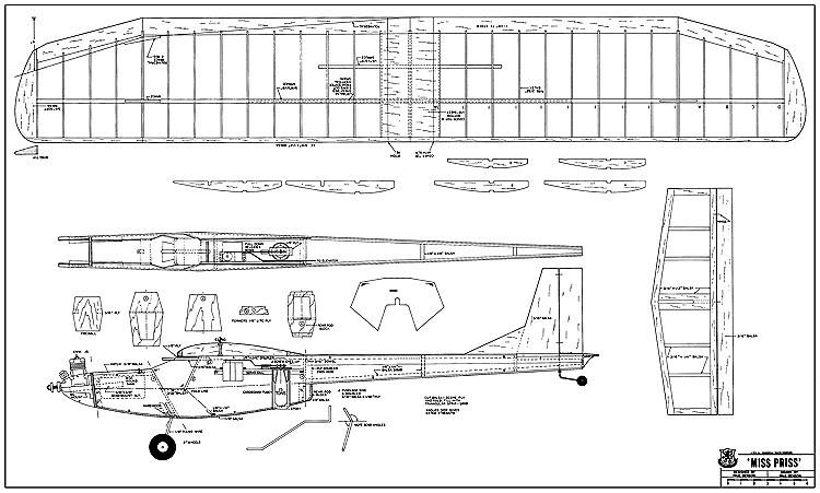 Miss Priss model airplane plan