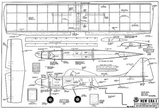 New Era I model airplane plan