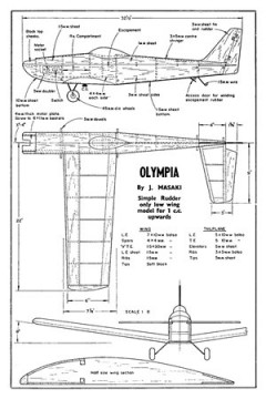Olympia model airplane plan