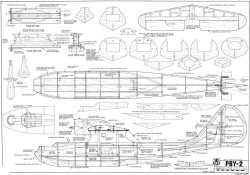 Consolidated PBY-2 Catalina model airplane plan