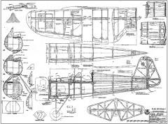 PZL P-11C model airplane plan