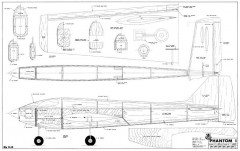 Phantom I model airplane plan