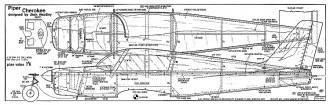 Piper Cherokee RC 38in model airplane plan