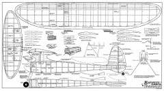 Playboy Sr RCM-597 model airplane plan
