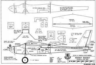 Pocket Rocket model airplane plan