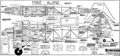 Poke Along RCM-1296 model airplane plan