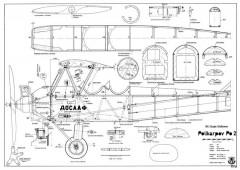 Polikarpov Po-2 model airplane plan