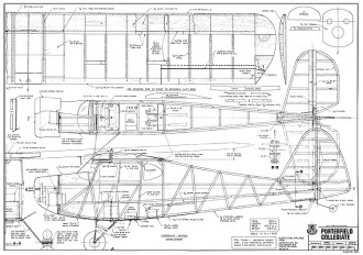 Porterfield Collegiate model airplane plan