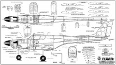 Prancer RCM-883 model airplane plan