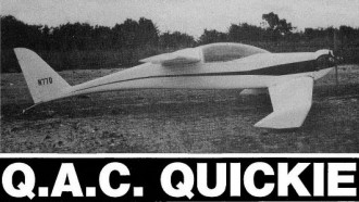 Q.A.C Quickie model airplane plan