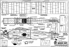 Quickie Bipe model airplane plan
