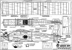 Quickie Bipe model airplane plan