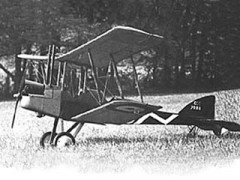 RAF BE2e model airplane plan