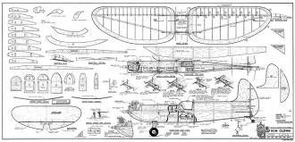 RCM Clown RCM-952 model airplane plan