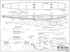 RCM Floats model airplane plan