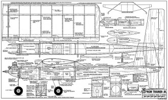 RCM Trainer Jr-RCM-06-74 560 model airplane plan