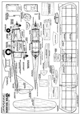 RCM Twin Scooter model airplane plan
