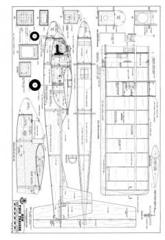 RCM Twin Trainer model airplane plan