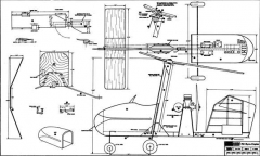 R/C Gyrocopter model airplane plan