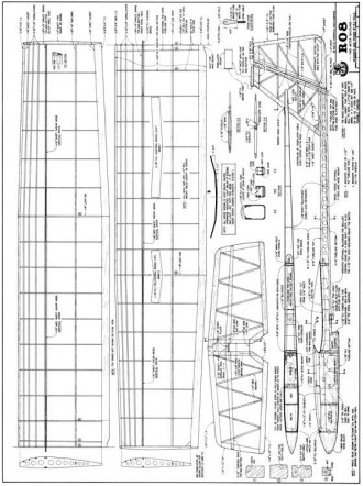 RO8 model airplane plan