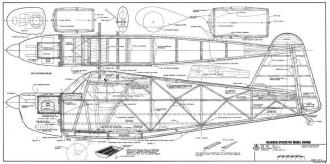 Rearwin Speedster 96in RCM-737 model airplane plan