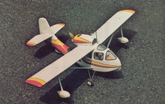 Republic Sea Bee model airplane plan