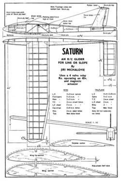 Saturn model airplane plan