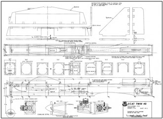 Scat Twin 40 model airplane plan