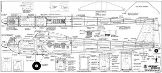 Senior Telemaster model airplane plan