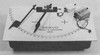 Servo Travel Centering Guide model airplane plan