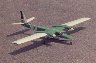 Shrike Commander model airplane plan