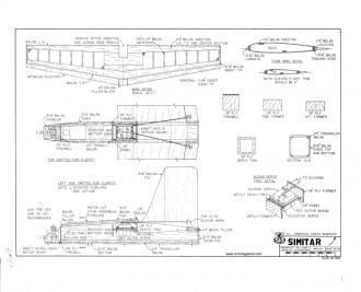 Simitar 049 RCM 669 model airplane plan