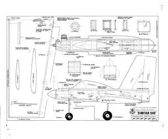 Simitar 540 model airplane plan