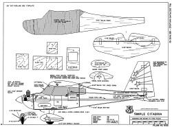 Simple Citabria model airplane plan