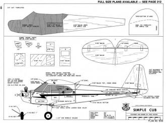 Simple Cub model airplane plan