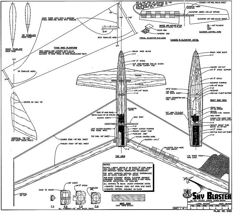 Sky Blaster-RCM-1148 model airplane plan