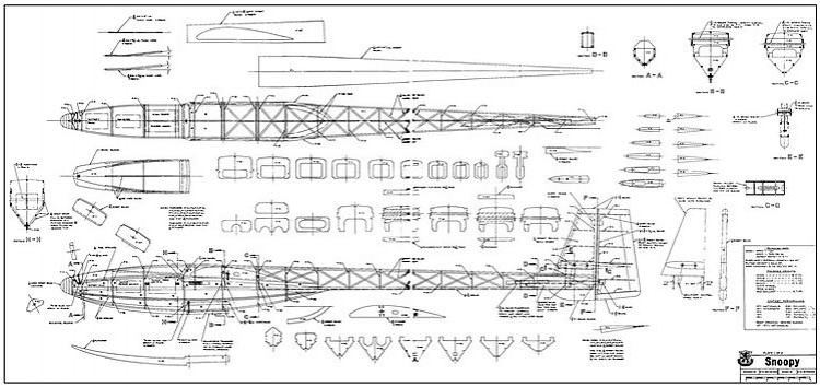 Snoopy model airplane plan