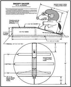 Snoopy Saucer model airplane plan