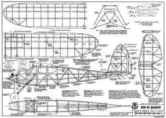 Son of Quaker model airplane plan