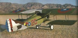 Spad XIII C1 model airplane plan