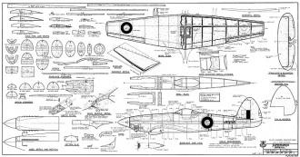 Supermarine Spiteful model airplane plan
