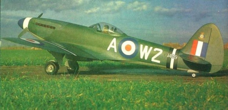 Spitfire F22-F24 model airplane plan