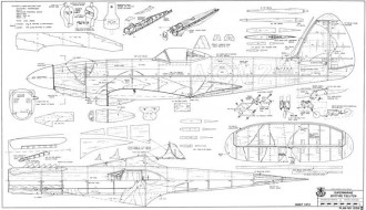 Spitfire F22 F24 model airplane plan